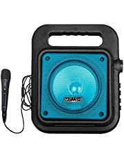 Mitashi PS 6510 BT Portable Karaoke Bluetooth Party Speaker with Mic/USB/AUX/Flashing Light/Recording Function(Blue)