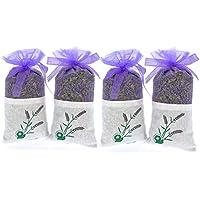 Puro Lavanda–4Sachet de 20gramos 100% puro de lavanda seca–fragancia para aromatherapy-car-closet-drawers-moths-wardrobe