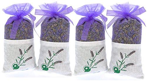 Rechteckige Schublade (Reiner Lavendel Duft – 4 Päckchen je 20 Gramm 100% Pure Getrocknete Lavendel Knospen – Duft für Aromatherapie – Auto – Schrank – Schublade – Motten - Garderobe)