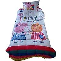 Pace Peppa Pig Microfiber Be Happy Comforter (Multicolour, 150 X 228 cm)
