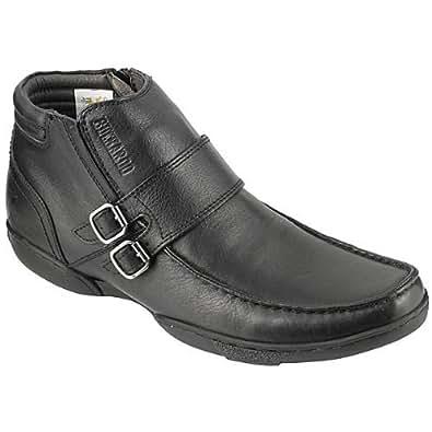 Buckaroo Men's Fausto Black Leather Boots - 10 UK