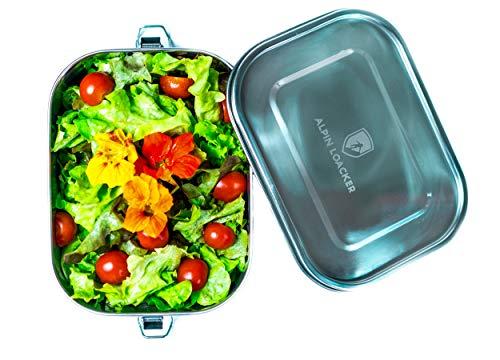 (Alpin Loacker Edelstahl Lunchbox auslaufsicher und dicht. Die Dichte Brotdose, Brotbox, Vesperbox, Vesperdose 1400ml)