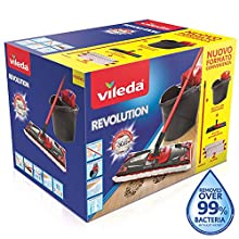 Vileda 158575 Box System Mop, Game with STRIZZATORE, Cube, plate rectangular and 2 Cloths Revolution 2 in 1, Other, Multicolor, 0.1 X 0.1 X 0.1 cm