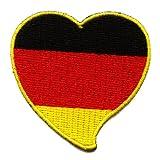 Deutschland Herz Heart Germany Patriot Sport Patch Aufnäher Aufbügler 0005