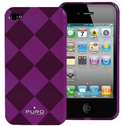 Puro LHOPUIPC4RHBU Rhomy-Losange Coque de protection pour iPhone 4 Bleu Violet