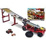 Hot Wheels Monster Trucks Pista 2 in 1 Discesa Estrema, Playset con Due Veicoli e Accessori, Giocattolo per Bambini 4+ Anni, GFR15