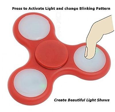 Finger-Spinner-Spielzeug mit LED-Leuchten Bremskraftbegrenzer Spinner Spin Finger Schöne mit LED-Leuchten Rot und Blau 2er-Set