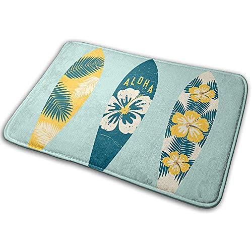 Nice-Guy Aloha Summer Surf Boards Badematte Anti-Skid Haustürmatte Bad Teppiche Teppich für Innen Außen 15,7x23,5 Zoll