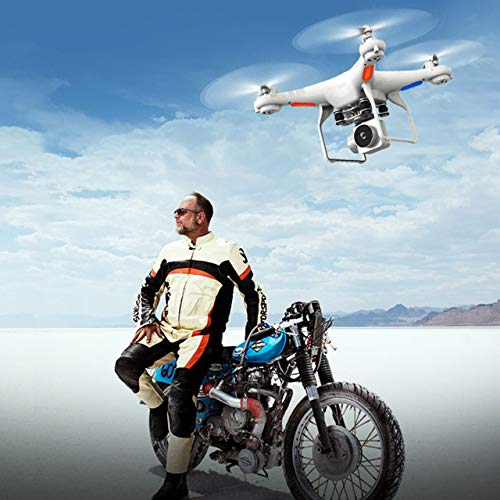 DEjasnyfall Drahtlose Fernbedienung Drone Quadcopter Unbemanntes Luftfahrzeug Mit HD-Kamera Luftbildfotografie Flugzeug Videoaufnahme (Weiß)