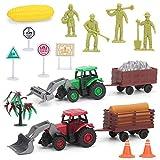 lesgos Giocattoli agricoli, Tractor Truck Farmers Giocattoli con Figure contadine, Finta Gioca Giocattoli prescolari per i più Piccoli Bambini Bambini