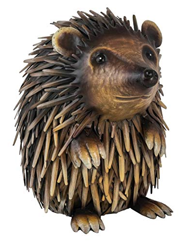 Fountasia Animal Kingdom - Decorative Figure of Metal Hedgehog for garden