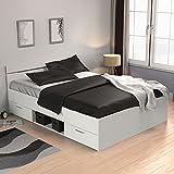 Funktionsbett 140*200 cm weiß inkl. 2 Bettschubkästen Kinderbett Jugendbett Jugendliege Bettliege Bett Jugendzimmer Kinderzimmer