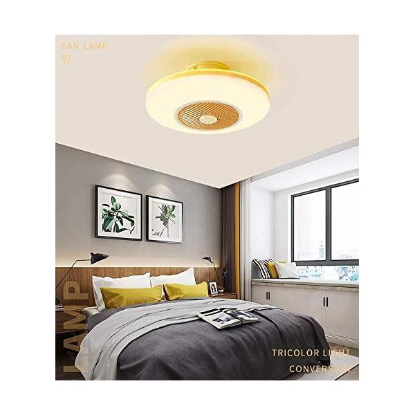 Iluminacin-de-lmparas-de-techo-lmpara-de-techo-LED-for-ventilador-de-techo-control-remoto-regulable-de-3-velocidades-y-3-colores-regulables-45W-LED-Saln-Dormitorio-Luz-de-ventilador-romntica