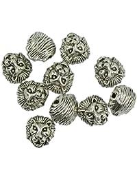 10 Packungen Metall Löwenkopf Armband Halsketten Stecker Perlen