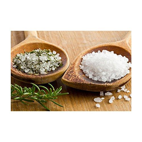 Salzkristall-granuliert aus den Minen der Salt Range, ein Vorgebirge des Himalaya   Optimal für Salz & Pfeffermühlen   Kräutersalz mit Kräutermischung aus kontrolliert biologischem Anbau