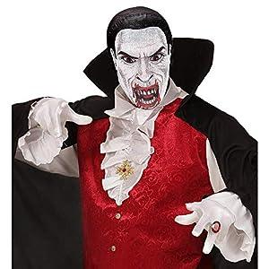 WIDMANN vd-wdm03595Máscara vampiro de tela, color blanco, talla única