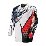 ONeal Hardwear Motocross / MTB Trikot Shirt 2016 Racewear - schwarz/Weiss/Rot: Größe Jersey: XXL