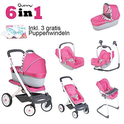 Puppenwagen Quinny 6-in-1 Kombi inkl. gratis Puppenwindeln