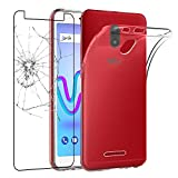 ebestStar - Coque Wiko Jerry 3 [148 x 72 x 9.1mm, 5.5''] Etui Housse Silicone Gel Anti-Choc Ultra Fine Invisible, Transparent + Film Verre Trempé