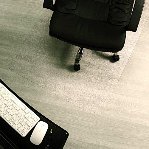 Marvelux ECO (Polymer) Bodenschutzmatte für Hartböden | 75 x 120 cm | rechteckig | transparent | in verschiedenen Größen erhältlich