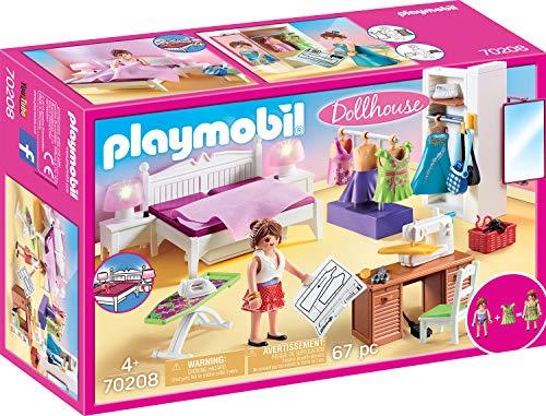 Playmobil 70208 Dollhouse Schlafzimmer mit Nähecke, ab 4 Jahren, bunt, one Size -