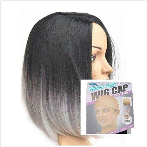 Meisi Hair Perruque style, résistant à la chaleur, Bob Courte 14 \\