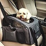 Bolsa de Transporte para Mascotas Transportín plegable para Viajar con Perros llevar gatos en coche Gris