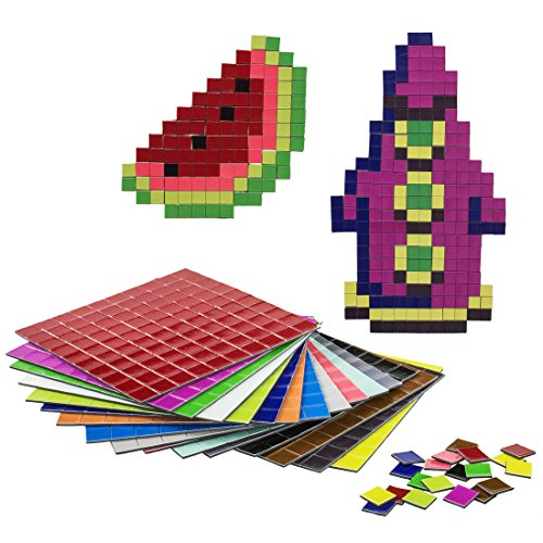 getDigital 11899 Pixel Puzzle Magnete | Set mit 1600 flachen Kühlschrankmagneten | 16 Farben nach C64 Palette | 1 x 1 cm je Pixel - Quadratische Magnete