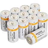 Amazonbasics C Cell Everyday Alkaline Batteries [Pack of 12]