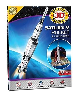 3D Puzzle Modellsatz - Saturn V Rakete (68 Teile) von Cheatwell Games
