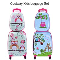 Costway ABS Kids Luggage Set 12