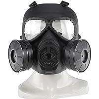haoYK Máscara antigas simulada de, máscara de cara M04 con ventilador doble, para protección