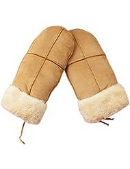 Fletion Ladies Thickening Réchauffeurs à impulsions gants chauds d'hiver de ski mitaines main chaude