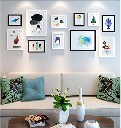 Foto-Galerie-Rahmen-Satz der Wand mit verwendbarer Grafik und Familie, Satz von 11 ( Farbe : B )