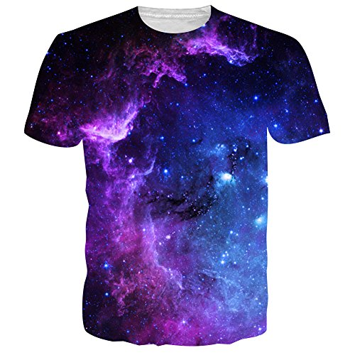 NEWISTAR Unisex 3d druckten Sommer-beiläufige kurze Hülsen-T-Shirts T-Stücke (3d T-shirt Gelbes)