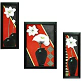 Gallery99Multicolor Floral Wall Paintings (With Glass & Black Frame)