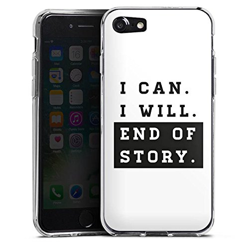 Apple iPhone X Silikon Hülle Case Schutzhülle Motivation Workout Fitness Silikon Case transparent