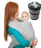 Momie Hug réglable New Baby Sling Wrap transporteur Pochette Bébé Naissance Allaitement (Gris)
