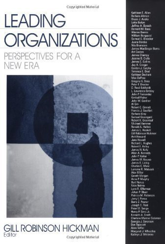 Leading Organizations: Perspectives for a New Era 1st (first) Edition by unknown (1998)