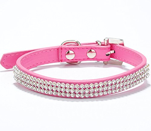 ETbotu Fashion Diamant Pet Hundehalsband zu Training Hund Pet Supplies Pink M -
