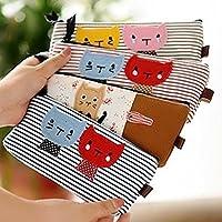 BeatlGem 4Piece 1x Cat Kitten stripe Pen Bag Pencil Case