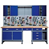 Küpper 70412-7 - Set para taller, 240cm, fabricado en Alemania, color: azul oscuro (Blu oltremare)