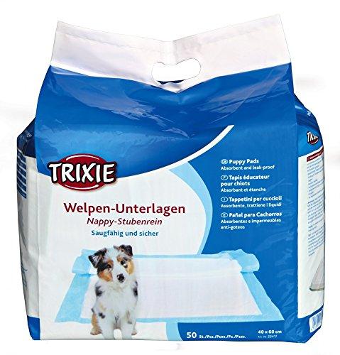 Trixie Welpen-Unterlage Nappy-Stubenrein 40x60cm - Big Pack, 50 Stück (Pack Saugfähig)