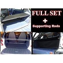 Bandeja de cuero sintético para maletero y varillas de soporte para coche Smart ForTwo, color