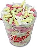 1.000g Aseli Minimäuse | Traditionsaroma | Schaumzucker-Ware | süße Schaum-Mäuse | bunte Speckmäuse | wiederverschließbarer 1kg Eimer | Schaumzucker-Figuren | glutenfrei | laktosefrei