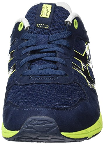 Onitsuka Tiger  Shaw Runner, Chaussures de ville à lacets pour homme Blanc (Blue)