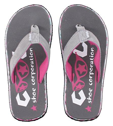 Dedo Cinza Rosa De Coolshoe Sandálias Senhoras wtnWPUzq1x