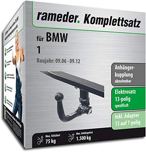 Rameder Komplettsatz, Anhängerkupplung abnehmbar + 13pol Elektrik für BMW 1 (113168-05114-2)