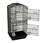 Oypla XL Large Metal Bird Cage Budgie Canary Finch Parrot Birdcage 12