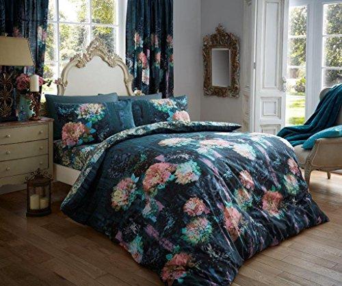Luxus Bettbezug Sets bedruckter Polycotton NEU Doppelbett Prism Teal